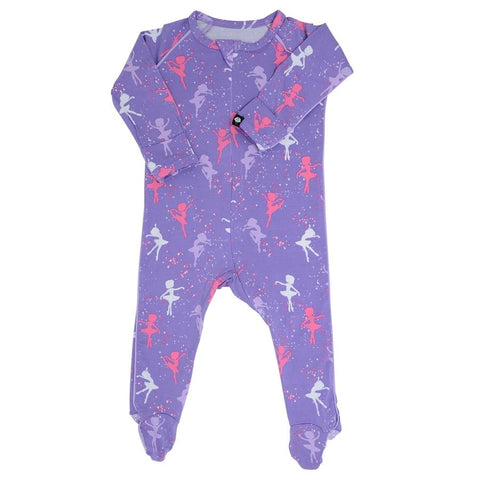 Sweet Bamboo Piped Footie - Ballerina