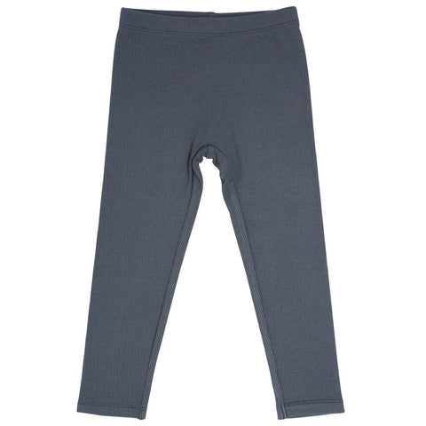 Sweet Bamboo Ribbed Leggings - Charcoal