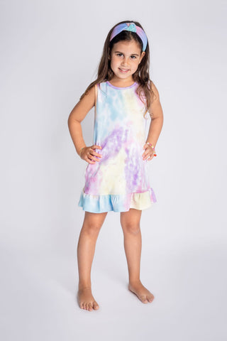 Baby Noomie Sleeveless Dress - Rainbow Tie Dye - Let Them Be Little, A Baby & Children's Clothing Boutique