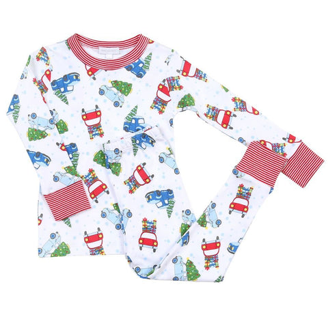 Magnolia Baby Long Sleeve PJ Set - Christmas Cheer