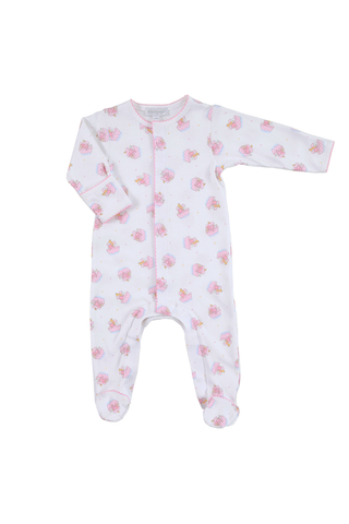 Magnolia Baby Essentials Footie - Noah's Friends All Over Print Pink