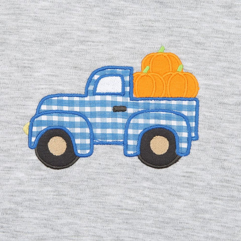 Magnolia Baby Long Sleeve Tee - Pumpkin Picking Applique