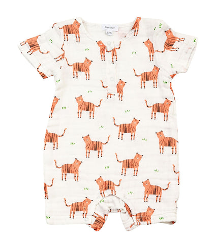 Angel Dear Shortall Muslin Romper - Tigers