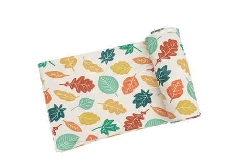 Angel Dear Bamboo Swaddle Blanket - Fall Leaves