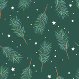 Sweet Bamboo Holiday Big Kid Blanket - Pine Sprigs