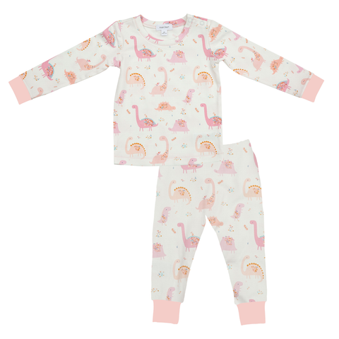Angel Dear 2 Piece PJ Set - Floral Dinos