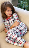 Bellabu Bear 2 piece PJ Set - Holiday Plaid
