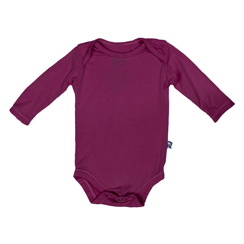 Kickee Pants Solid Basic Long Sleeve One Piece - Orchid