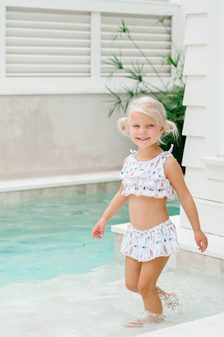Charming Mary Two Piece Swimsuit - Ice Cream - Let Them Be Little, A Baby & Children's Boutique