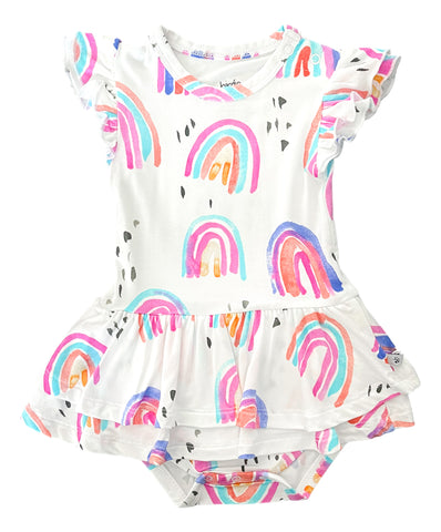 Birdie Bean Birdie Ruffle Cap Sleeve Twirl Bodysuit - Raegyn - Let Them Be Little, A Baby & Children's Clothing Boutique