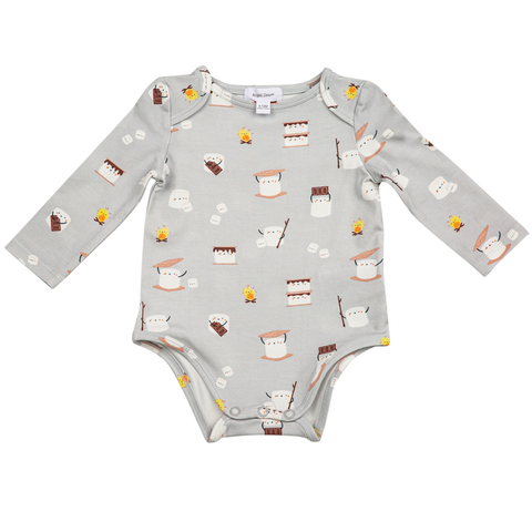 Angel Dear Long Sleeve Bodysuit - Smores