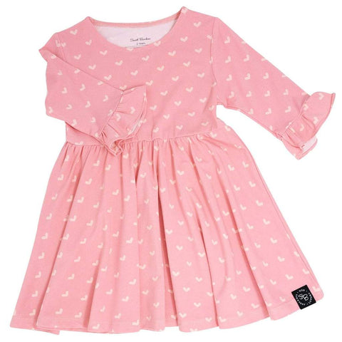 Southern Sweetheart Dress - Polka Hearts Pink