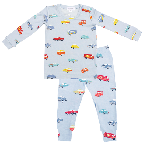 Angel Dear 2 Piece PJ Set - Sweet Ride - Let Them Be Little, A Baby & Children's Boutique