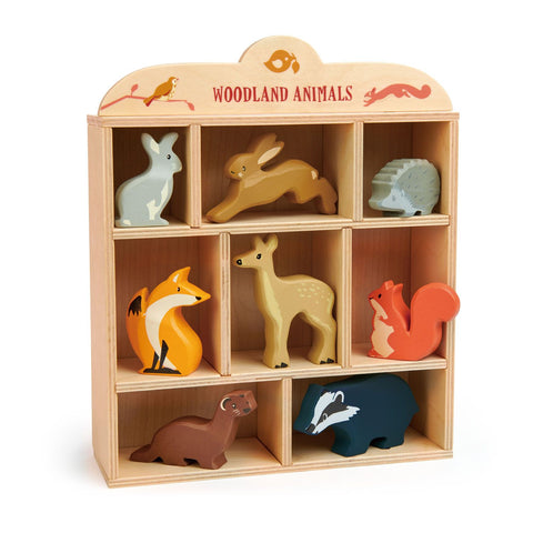 Tender Leaf Toys - Woodland Animals w/ Display Shelf
