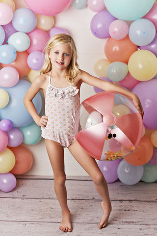 Swoon Baby One Piece Swimsuit - Blush Petal SBS16