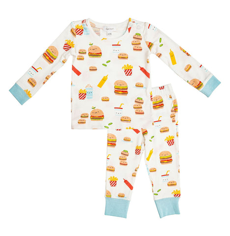 Angel Dear 2 Piece PJ Set - Burger Joint - Let Them Be Little, A Baby & Children's Boutique