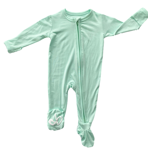 Birdie Bean Zip Footie - Wintergreen - Let Them Be Little, A Baby & Children's Boutique