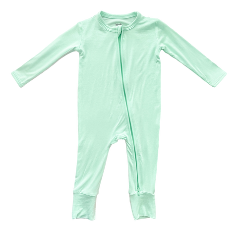 Birdie Bean Zip Romper w/ convertible footie - Wintergreen - Let Them Be Little, A Baby & Children's Boutique