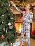 Bellabu Bear Women's 2 piece PJ Set - Holiday Plaid