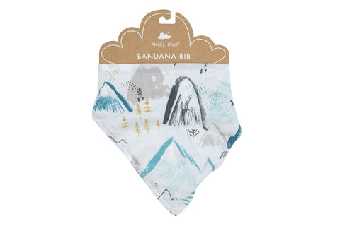 Angel Dear Bamboo Bandana Bib - Mountains