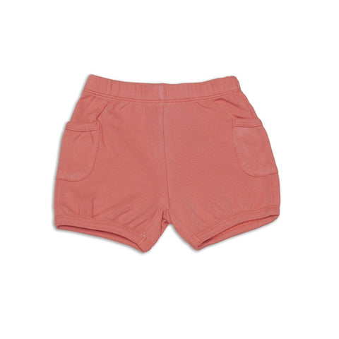 Silkberry Baby Organic Cotton Pocket Shorts - Terracotta