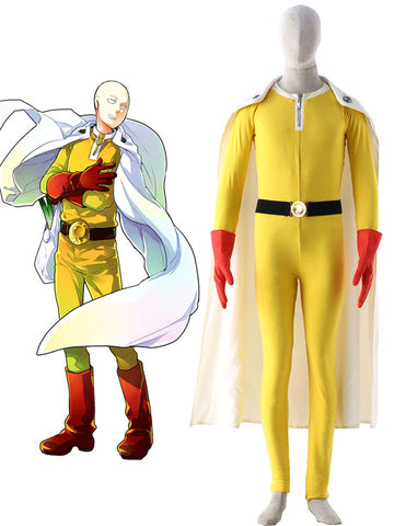 One-Punch Man Saitama Caped Baldy Cosplay Costume pre made