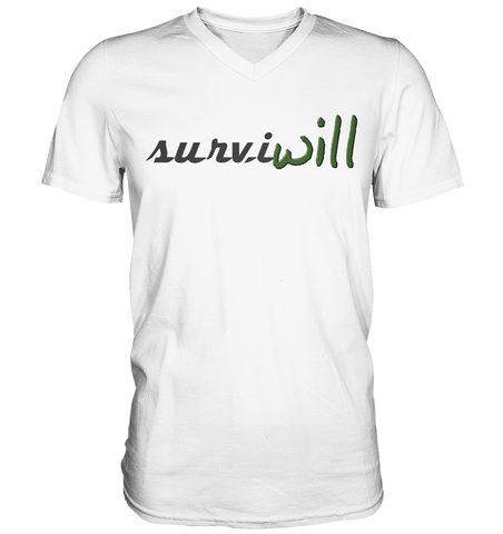 surviwill - Mens V-Neck Shirt - festiwill.de
