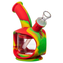 Load image into Gallery viewer, Silicone Kettle Bubbler - Rasta - dab rig