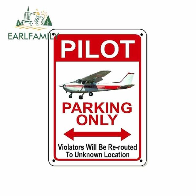 Pilot Parking Only Sign  Stickers