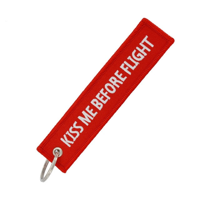 Kiss Me Before Flight Key Chain