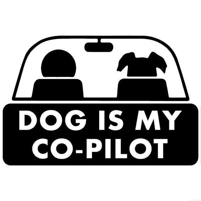 Dog is my Co-Pilot Decal Pet Sticker