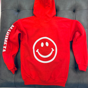 Smily Face Custom Zip Up Sweatshirt