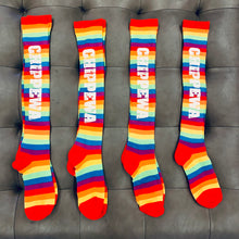 Load image into Gallery viewer, Camp Rainbow Knee Socks