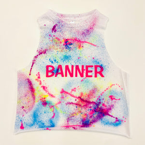 Neon Splatter Custom Camp Tank