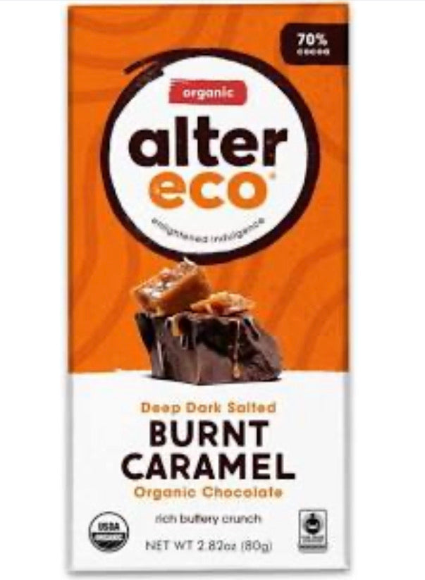ALTER ECO Chocolate (Organic) – Dark Salted Burnt Caramel 80g
