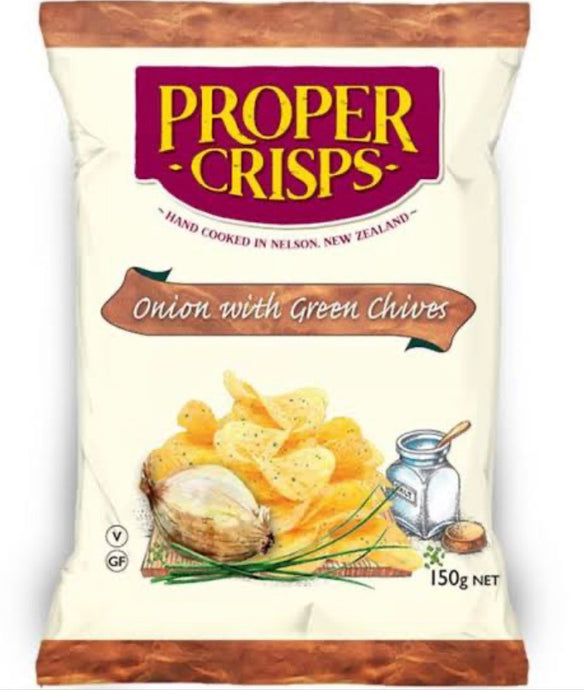 PROPER CRISPS - Onion With Green Chives 150g