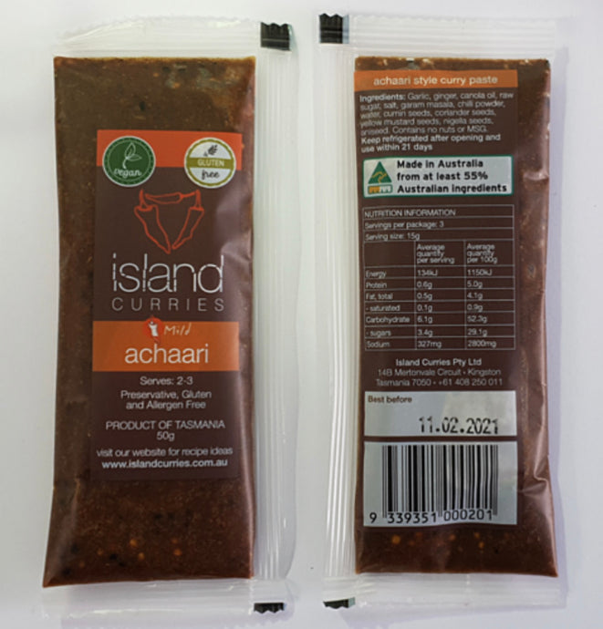 Island curries | ACHAARI | chicken - style | 50g sachet