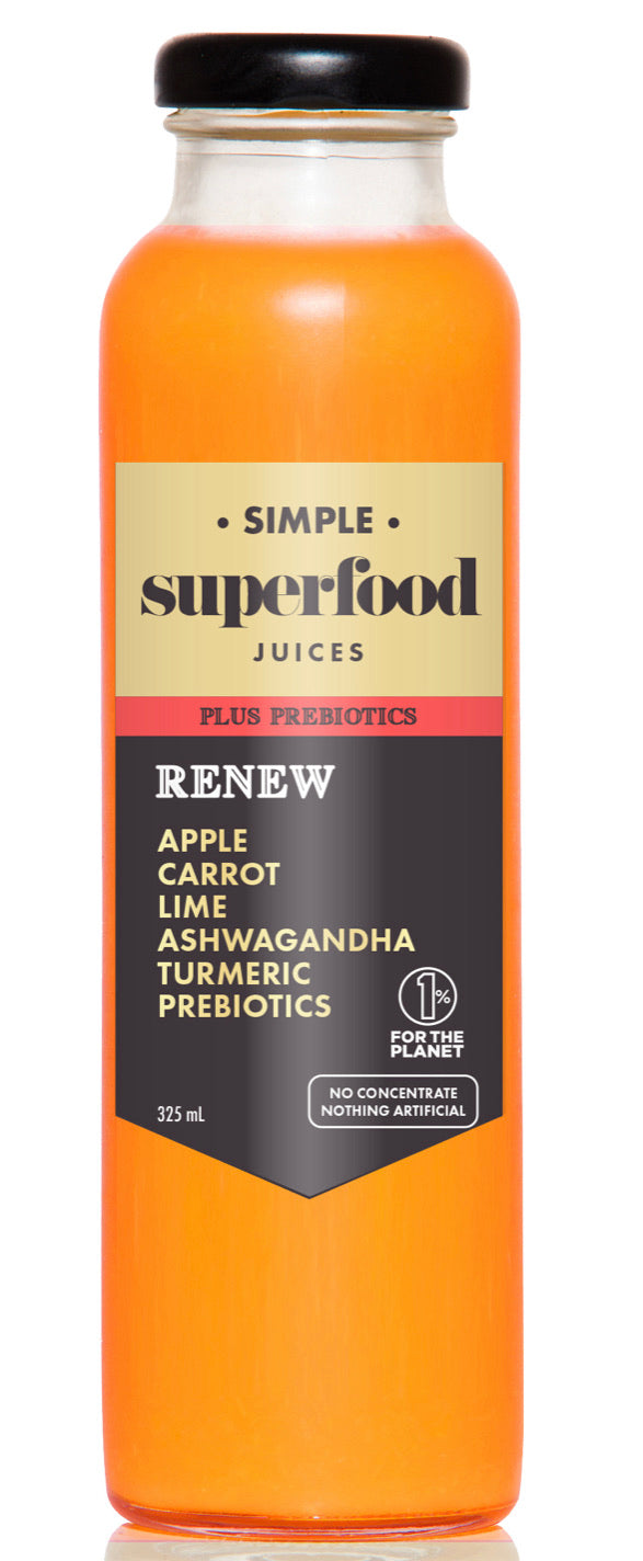 Simple Superfood+Prebiotic Juice – Renew