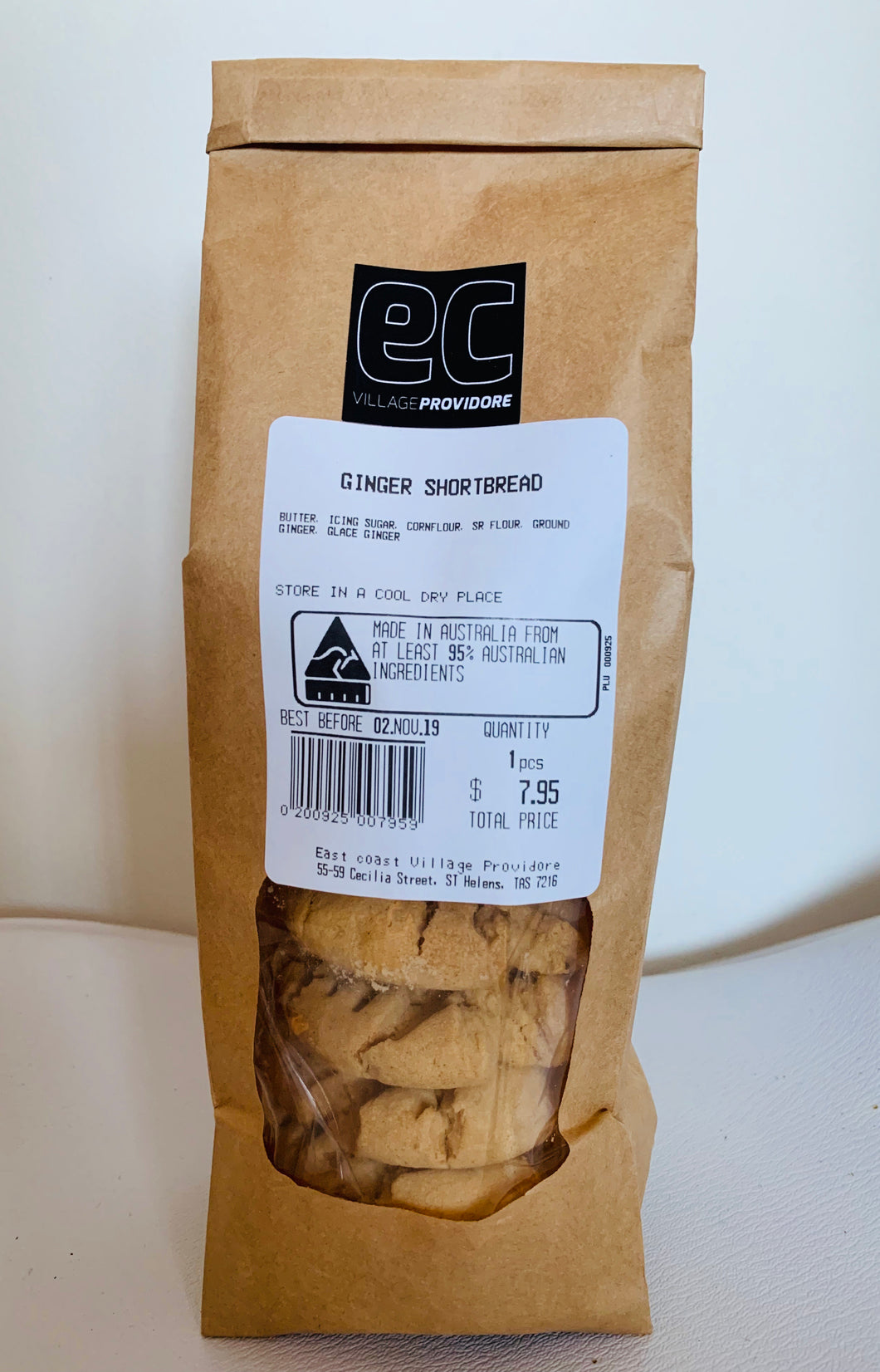 EC Village Providore GINGER SHORTBREAD