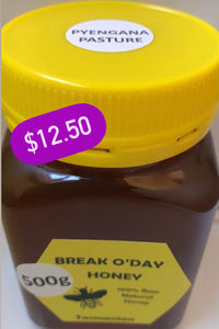 HONEY - (Break O' Day) PYENGANA PASTURE 500g