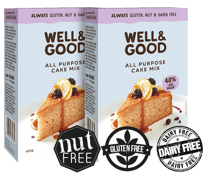 Well & Good Gluten Free All Purpose Cake Mix 400g