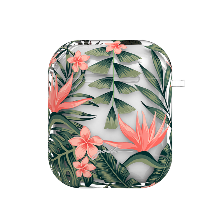 gosh Airpods case Anti-Shock Drop Protection Tropical Flora