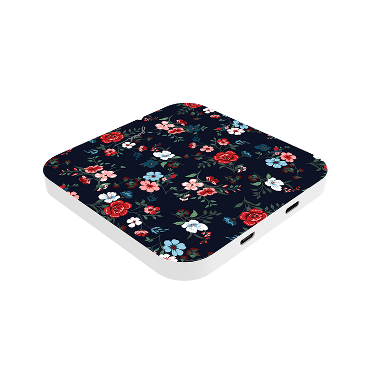 gosh intellicharge Slim Wireless Charger Qi 10W 2 USB Port_Cottage Bloom