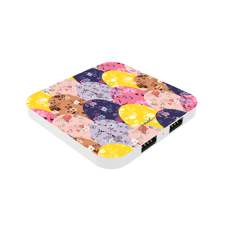 gosh intellicharge Slim Wireless Charger Qi 10W 2 USB Port_Mermaid