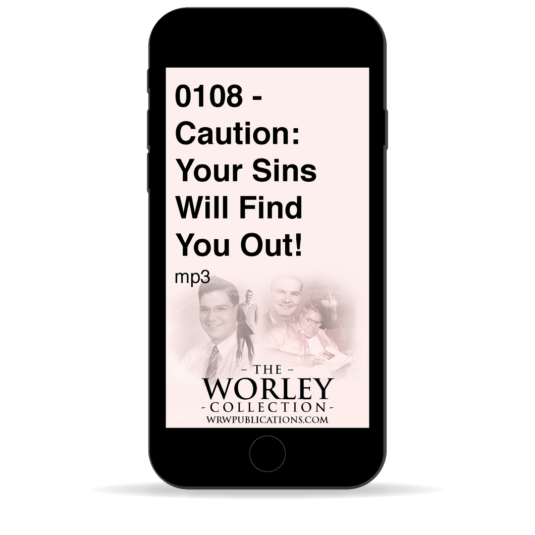 0108 - Caution: Your Sins Will Find You Out!