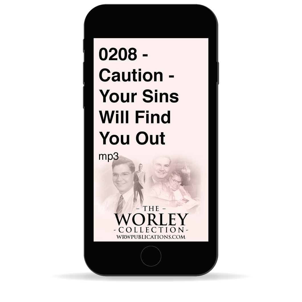 0208 - Caution - Your Sins Will Find You Out