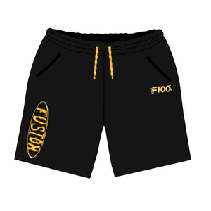 "Metallic Gold ""Oval"" Sweatshorts"