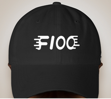 Load image into Gallery viewer, Black/White Embroidered Dad Hat