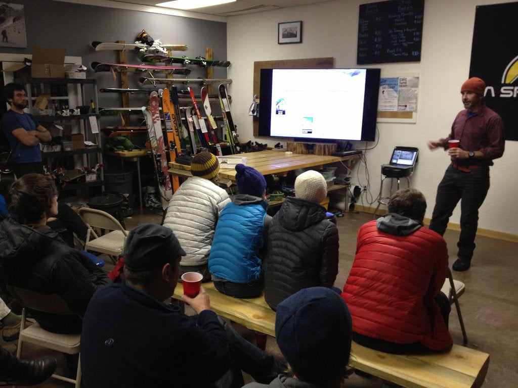 Avalanche Education at the shop