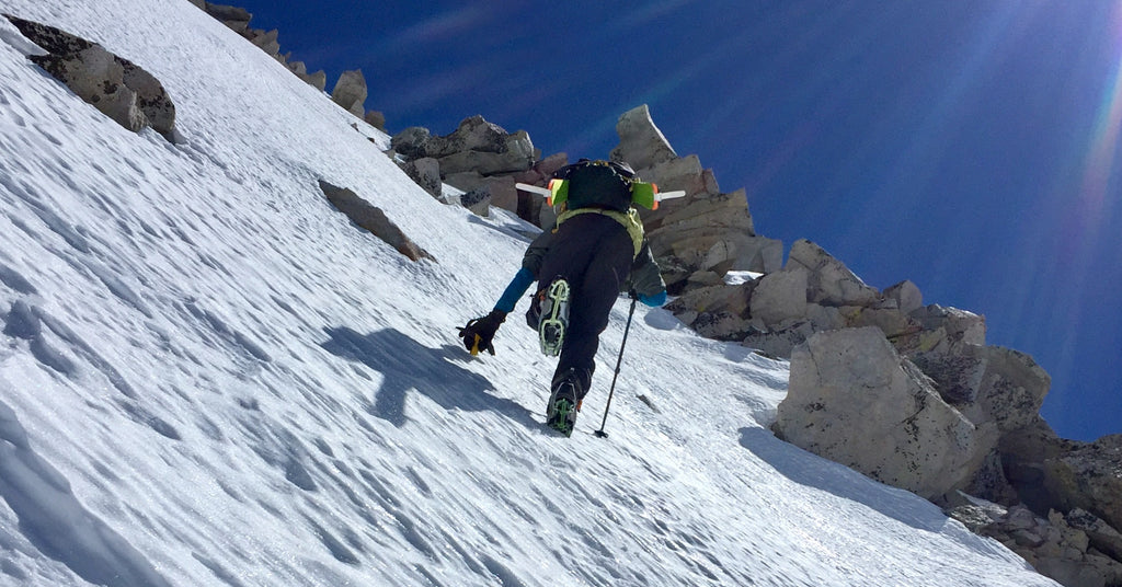 booting up west face of snowmass